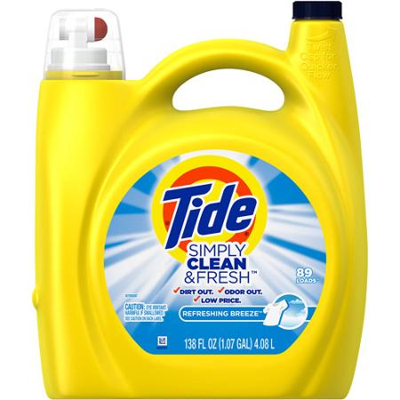 TODAY ONLY- FREE Tide liquid laundry detergent 138 fl oz bottle from Wal-Mart