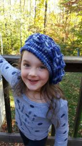 crochet beret, kids beret, crochet hat, hats for kids, adult crochet, free patterns, free crochet pattern, blue crochet hat