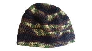 Brain waves hat, camo hat, camoflauge hat, crochet camo, brain hat,