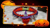 Halloween glow in the dark, paracord bracelet, para cord, orange, glowing bracelet, glow in the dark, beads, bead bracelet
