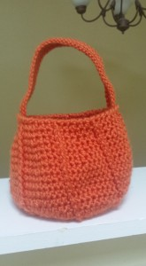 pumpkin crochet, crochet bag, Halloween, Halloween crochet, candy basket, crochet basket, candy, orange, halloween