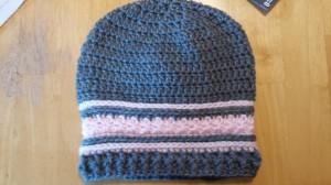 crochet beanie hat, crochet hat, crochet, hats, beanies, handmade hat, pink crochet hat, grey crochet hat