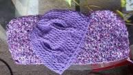 awareness ribbon crochet hat, crochet hat, ribbon hat