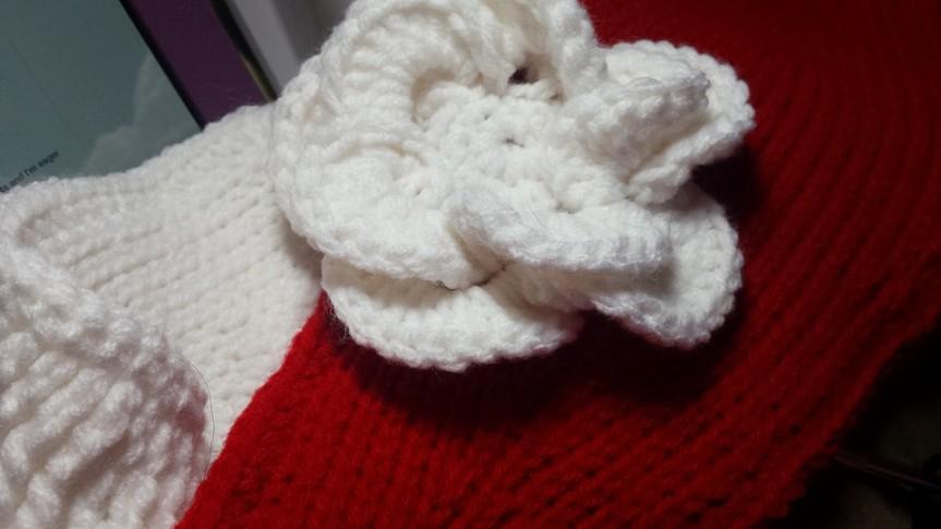 Tunisian headband and flower2
