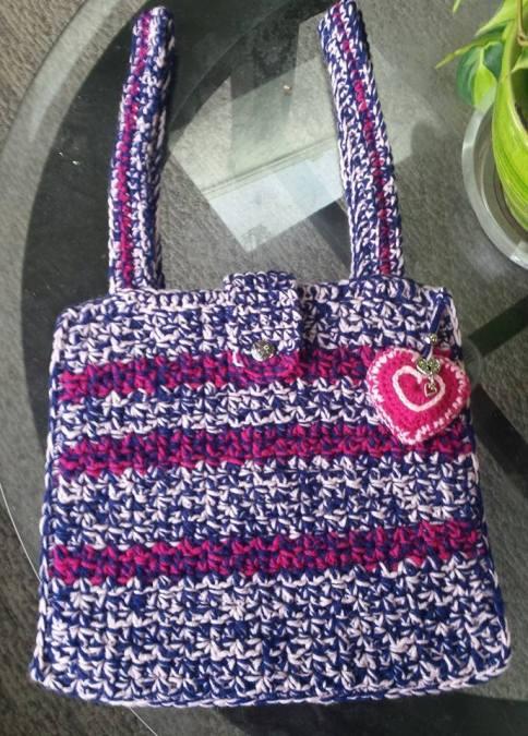 Valentine Crochet Bag
