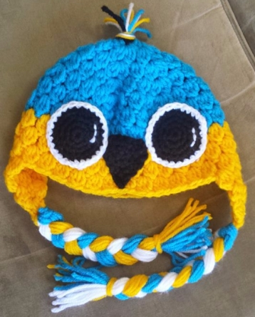 blue chicken hat